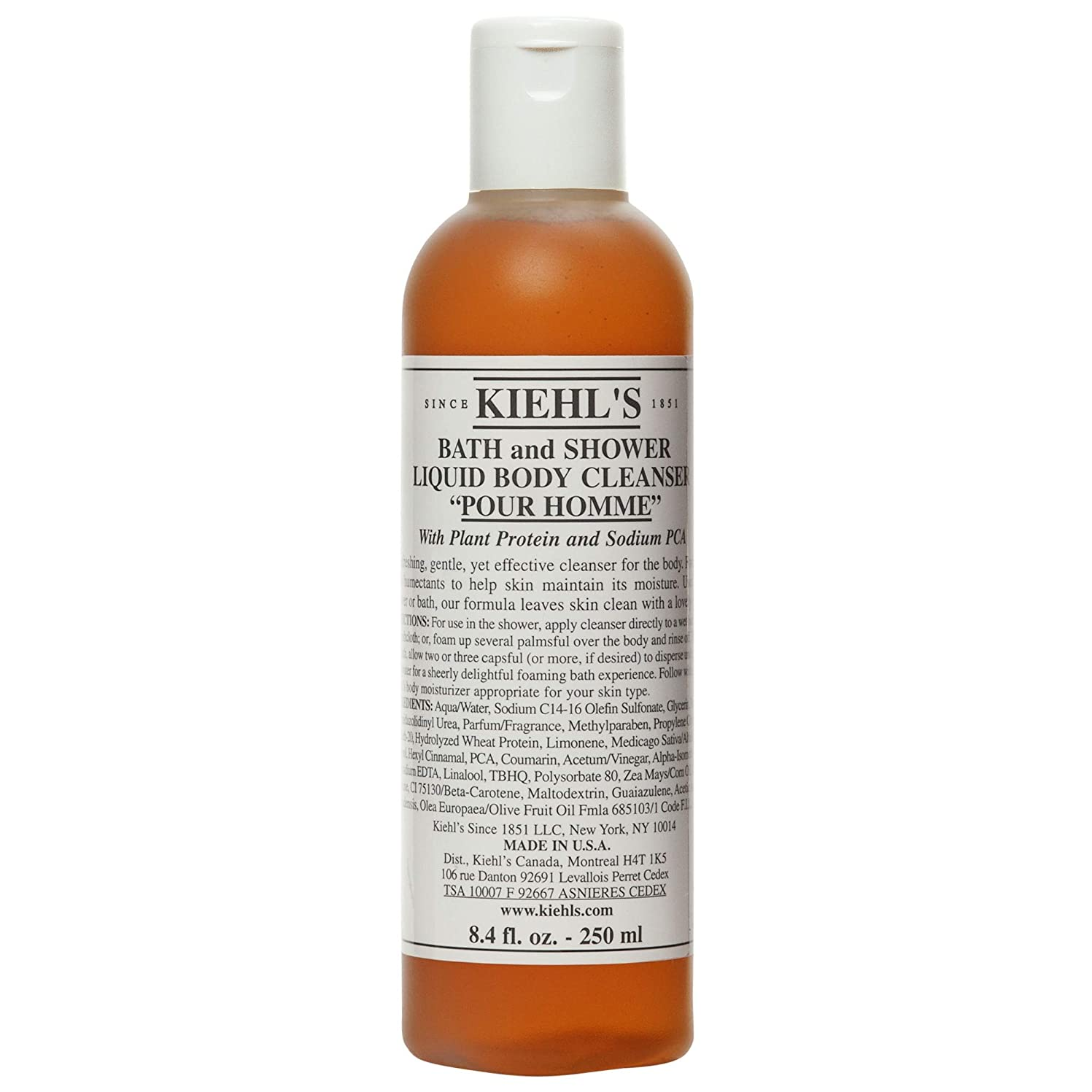 先住民超音速賞[Kiehl's ] キールさんはオムバスを注ぎ、液体ボディクレンザー250ミリリットルシャワー - Kiehl's Pour Homme Bath and Shower Liquid Body Cleanser 250ml [並行輸入品]