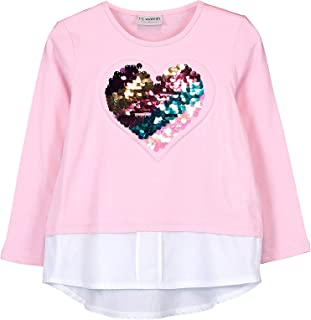 3 ans Minoti Baby Girls Toddlers Summer Top T-shirt à manches courtes en coton 9 mois