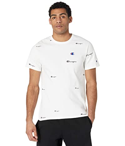 Champion LIFE Heritage Short Sleeve T-Shirt All Over Print (Spread Scripts White) Men