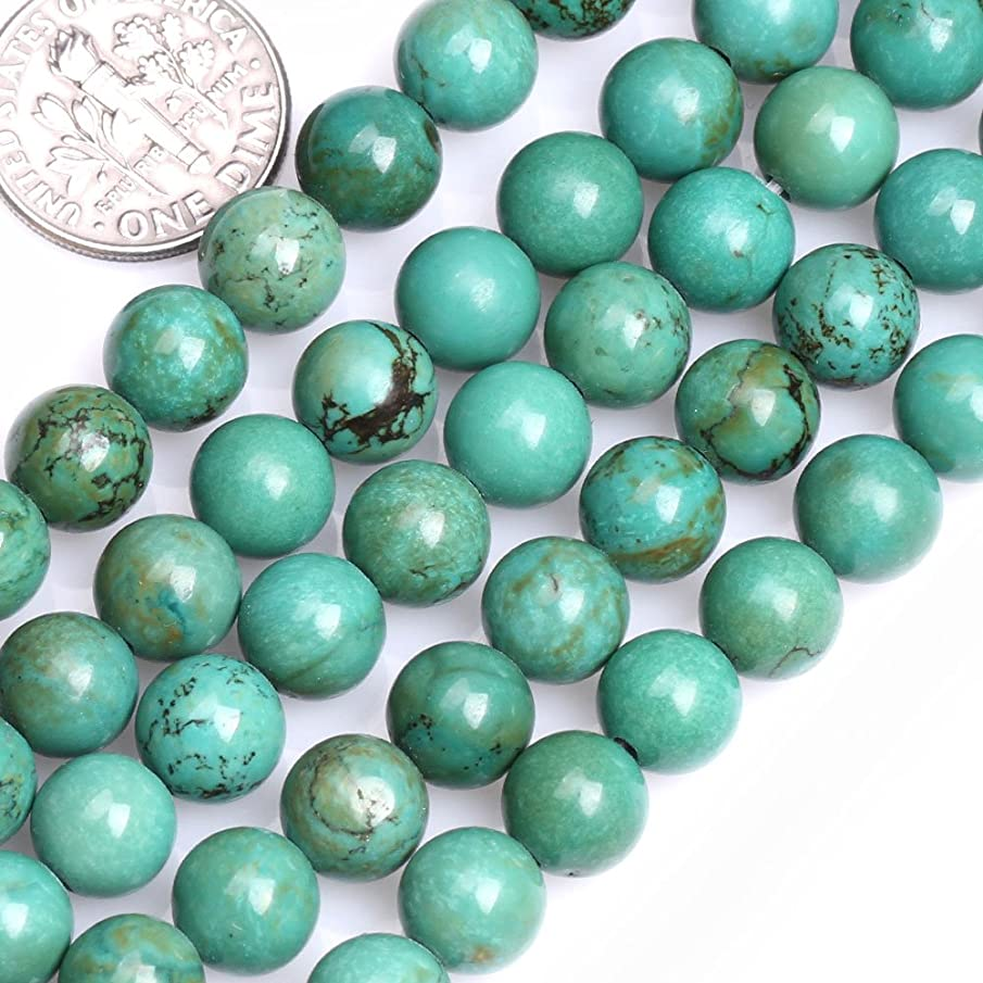GEM-inside Gemstone Loose Beads Dyed Old Turquoise 8mm Round Energy Stone Power Beads For Jewelry Making 15