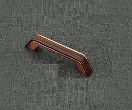 HARMONUS, Fancy Cabinet Handle, Rose Gold/Qubic Finish, Zinc Alloy, 96 MM (4 Inch), 6 PCS