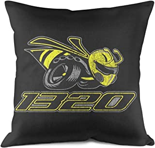 HQWT Decorative Throw Pillows Covers Dodge-Scat-Pack-1320-Angry-Bee- Style Cotton Breathable Cushion Pillow Cover 18