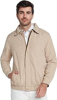 Men's Water Resistant Lightweight Paneled Harrington Jacket