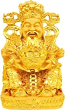 sanheng fire God of Wealth Gold Plating Statue Wencaishen Feng Shui Ornament Mascot Bring More Wealth for You