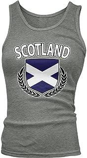 Junior's Scotland Flag Shield, Scottish Pride Tank Top