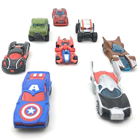 SUPER TOY Die Cast Metal Super Cars Play for Kids, Pack of 8, Multicolor