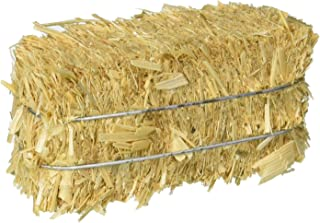 FloraCraft 12 Piece Decorative Straw Bale 1 Inch x 1.25 Inch x 2.5 Inch Natural