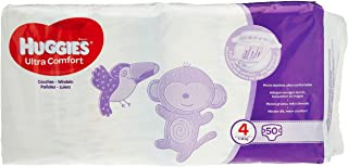 Huggies luiers maat 4 (7-18kg), Ultra Comfort, baby voordeelverpakking, 150 stuks