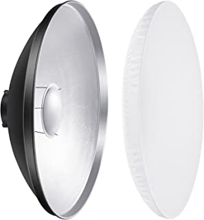 Neewer 16 inches/41 Centimeters Aluminum Standard Reflector Beauty Dish with White Diffuser Sock for Bowens Mount Studio Strobe Flash Light Like Neewer Vision 4 VC-400HS VC-300HH VC-300HHLR VE-300