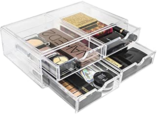 Sorbus Acrylic Cosmetics Makeup and Jewelry Storage Case X-Large Display Sets -Interlocking Scoop Drawers Create Your Own ...