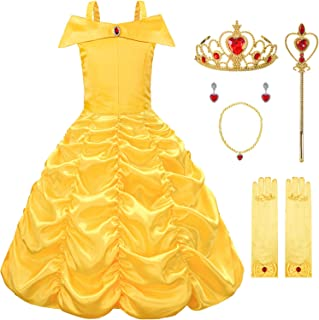 Avady Princess Costumes Birthday Party Dress Up Clothes for Little Girls With Accessories Age 2-10 Years