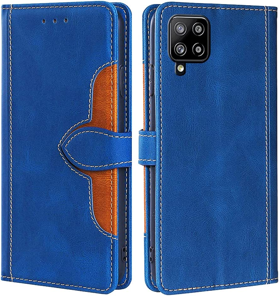CSTMCASE Leather Wallet Case for Galaxy A42 5G,Samsung A42 5G Case,Flip Folio Book Credit Card Holder Shockproof Phone Case Cover for Samsung Galaxy A42 5G(Blue)