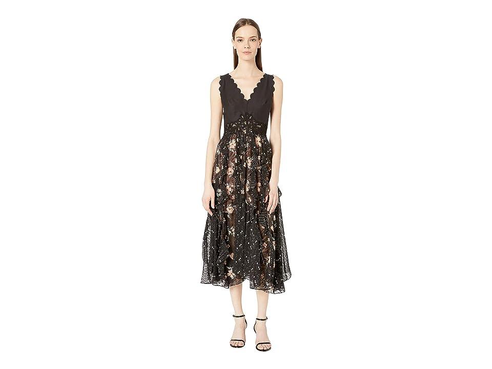 Rebecca Taylor Sleeveless Daniella Dress (Black Combo) Women