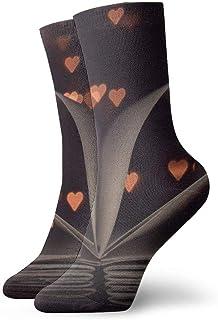 OUYouDeFangA, Libro Loving Corazón Adulto Calcetines de Algodón Lindo Calcetines Cortos Para Yoga Senderismo Ciclismo Correr Deportes de