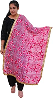 Heavy Embroidery Phulkari Dupatta for Women