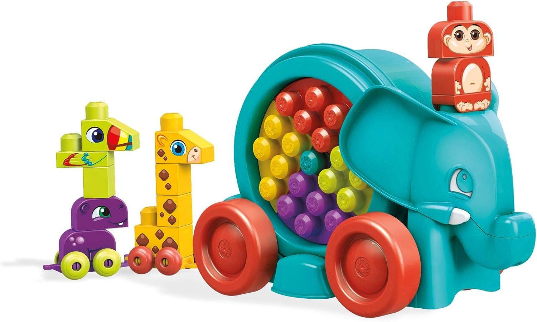 Mega Bloks FFG21 Lustige Elefantenparade, Mehrfarbig