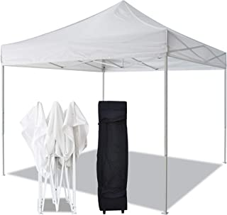 American Phoenix Canopy Tent 10x10 Easy Pop Up Instant Portable Event Commercial Fair Shelter Wedding Party Tent (10x10, White (with Carry Bag))