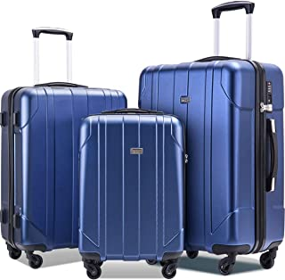 Luggage Sets with TSA Locks, 3 Piece Lightweight P.E.T Luggage 20inch 24inch 28inch