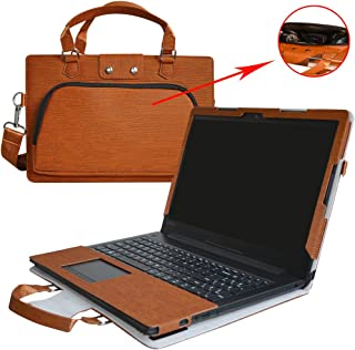 Ideapad 320s 15 Case,2 in 1 Accurately Designed Protective PU Leather Cover + Portable Carrying Bag for 15.6