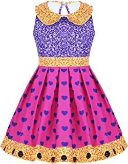 iEFiEL Girls Kids Dance Ballet Tutu Dress Costumes Halloween Cosplay Dress up Party