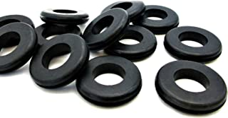 """Rubber Grommets for 1 1/8"""" Panel Hole - 3/4"""" ID x 1 1/2"""" OD, Fits 3/32-1/8"""" Panel - SBR Rubber Grommet Black Rubber Grommet Round Rubber Grommet (4)"""