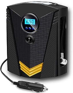 RabbitStorm Inflador de Llantas Digital Automatico, Compresor de Aire Portatil para Auto 12V con Bomba Electrico con Panta...