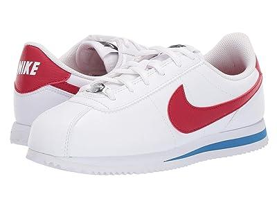Nike Kids Cortez Basic SL (Big Kid) (White/Varsity Red/Varsity Royal/Black) Kids Shoes