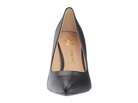 Nine West Astoria Block Heel Pump Black Leather Free Shipping Fake LJCEN0