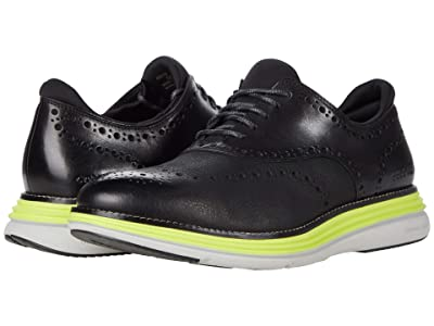 Cole Haan Original Grand Ultra Wingtip Oxford (Black Nubuck/Leather) Men
