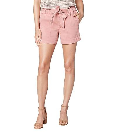 Liverpool Paper Bag Tie Front Porkchop Pocket Shorts (Mauve Blush) Women
