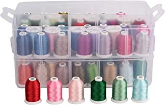Simthread Polyester Machine Embroidery Thread for Home Embroidery Machines (80 Colors)