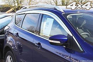 Autoclover - Juego de deflectores de Viento cromados para Ford Kuga 2012+ (6 Unidades