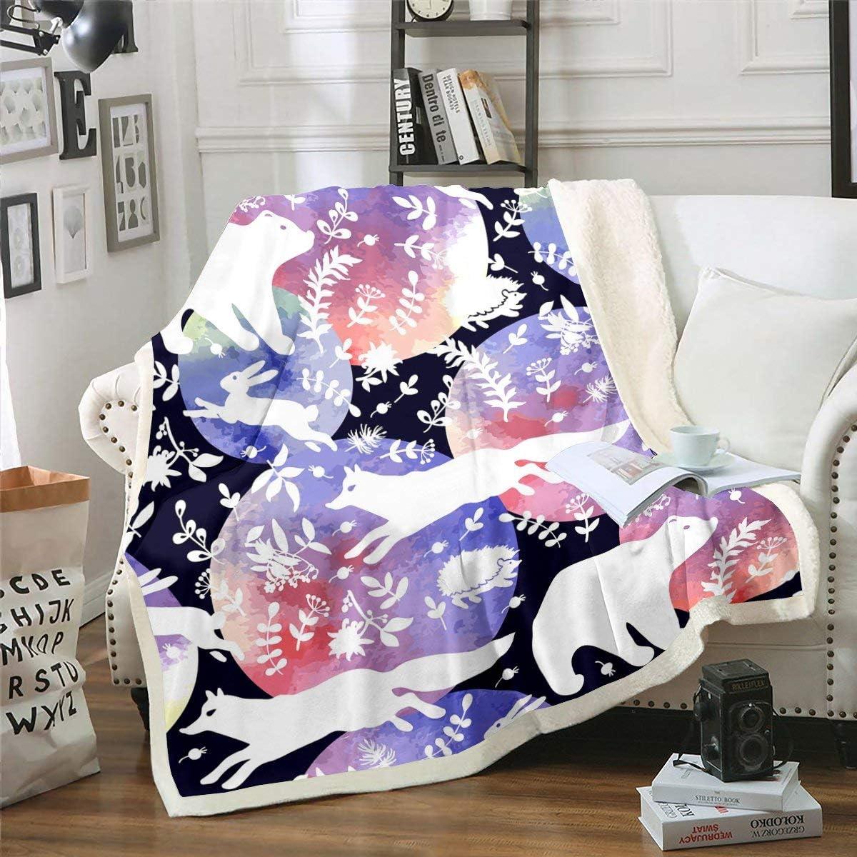 sale Phoenix Mall Fox Rabbit Fleece Blanket Bear Car Floral Child