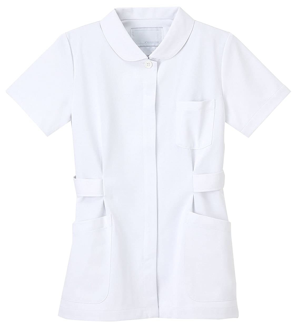 なめらかなバッジエージェントナガイレーベン NAGAILEBEN 女子上衣 HO-1912(LL) ホワイト
