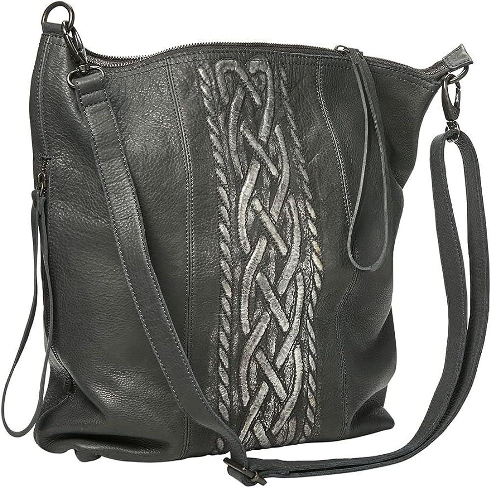 Manufacturer regenerated product Women's Celtic Braid Leather Handbag - Hig 14