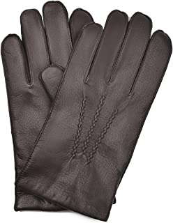 YISEVEN Men's Deerskin Leather Warm Fleece Lined Dress Classical Luxury Gloves