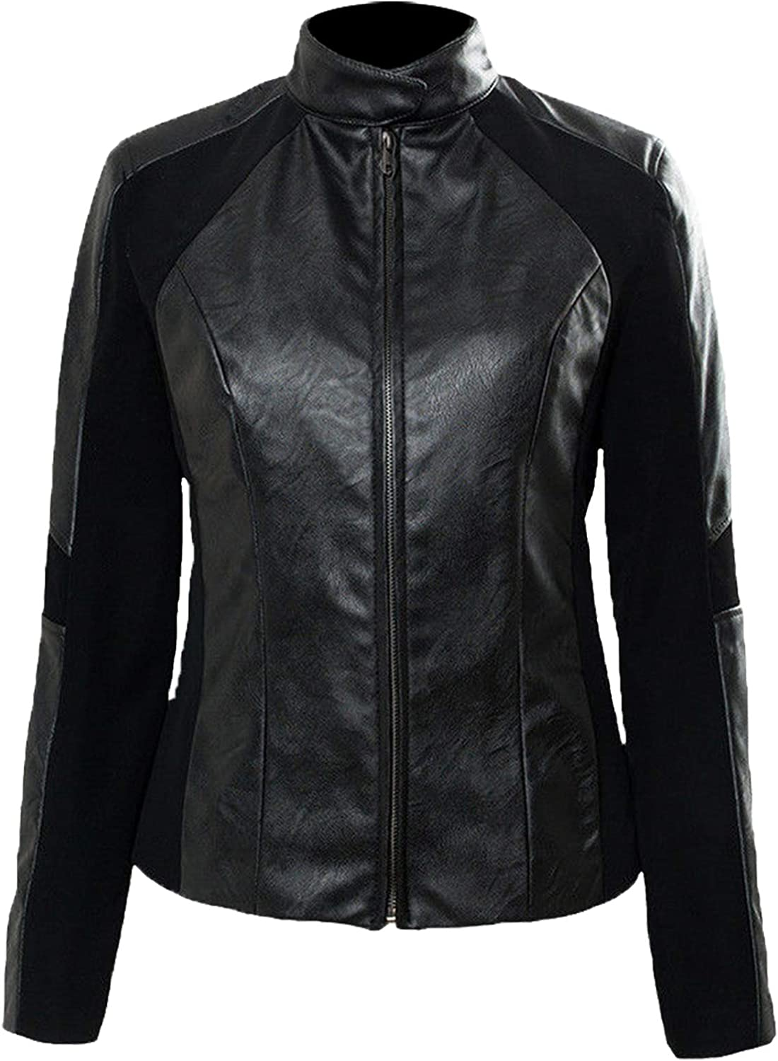 half Mission Impossible Fallout Rebecca Faux Mesa Mall Leather Jacket Fleece