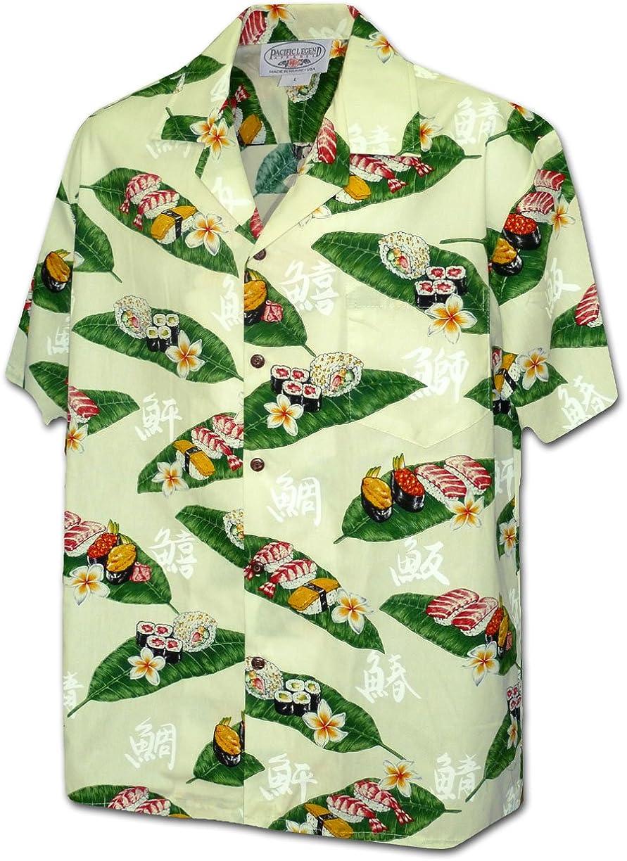 Pacific Legend Sushi Men's 100% Shirt Hawaiian Cotton Limited price Sacramento Mall
