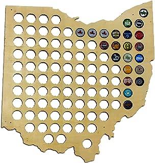 laser cut ohio map