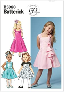 4e7d7e8d9 Butterick Patterns 5980 CL - Patrones de Costura para Vestidos de niña  (Tallas 6-