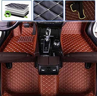 SureKit Custom Car Floor Mats for Lexus is IS200 IS200t IS250 IS300 IS300h IS350 2005-2012, 2013-2017 Luxury Leather Waterproof Anti-Skid Full Coverage Liner Front & Rear Mat/Set (Brown)