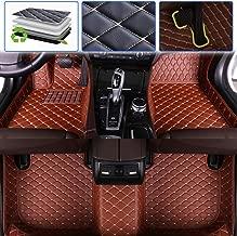 SureKit Custom Car Floor Mats for Lexus is IS200 IS200t IS250 IS300 IS300h IS350 2005-2012, 2013-2017 Luxury Leather Waterproof Anti-Skid Full Coverage Liner Front & Rear Mat/Set (Brown)