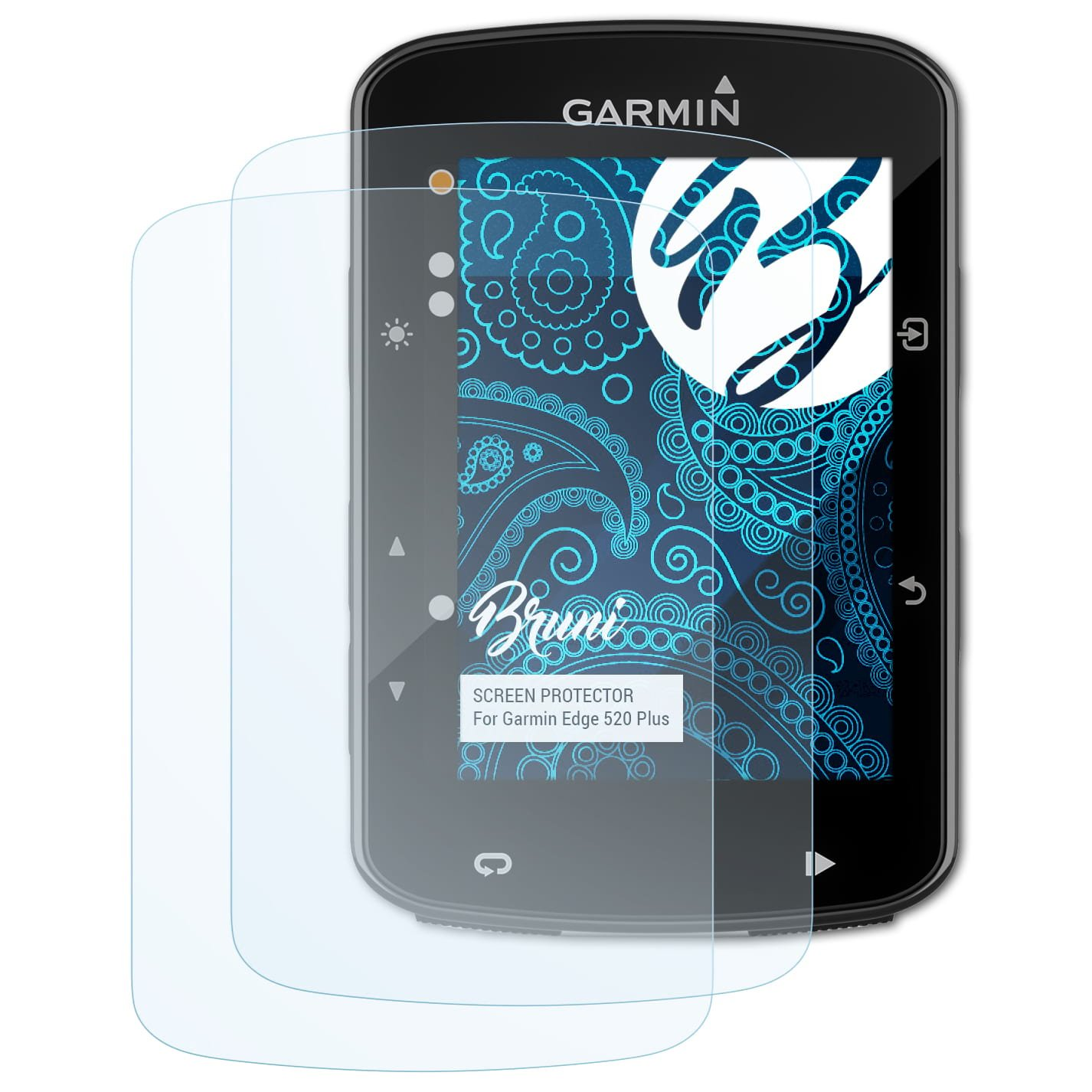 Bruni Película Protectora Compatible con Garmin Edge 520 Plus ...