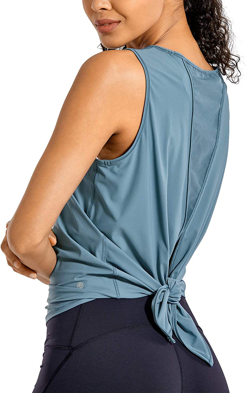 CRZ YOGA Camiseta Deportiva de Tirantes Prendas Deportivas para Mujer de Fitness Espalda Abierta