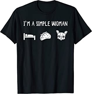 Naps, Tacos, French Bulldog Girl Women Gift T-Shirt