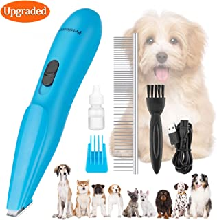 Petslucent Dog Clippers, Pet Grooming Scissors Kit Professional Cat Hair Clipper Trimmer for Small Dogs, Super Quiet Rechargeable Dog Clippers Brush Comb for Hair Around Claw, Paws, Eyes, Ears, Feet