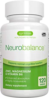 Neurobalance, Zinc Picolinate Chelate 24mg, Magnesium & Vitamin B6, 120 tablets, Vegan, by Igennus