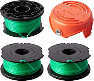 "Thten String Trimmer Spool Replacement for Black and Decker SF-080 GH3000 LST540 Weed Eater 20ft 0.080"" GH3000R LST540B Auto Feed Single Line with 90583594 Cap Covers Parts"
