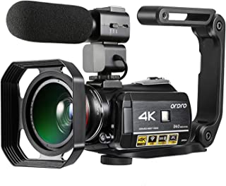 AC3 4K WiFi Digital Video Camera Camcorder DV Recorder 24MP 30X Zoom IR Night Vision 3.1 Inch IPS LCD Touchscreen with 2pc...