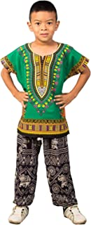 LOFBAZ قميص داشيكا أفريكان للأطفال للجنسين الأولاد والبنات الصغار تي شيرت